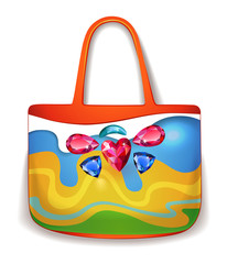 Lady summer holiday hand bag