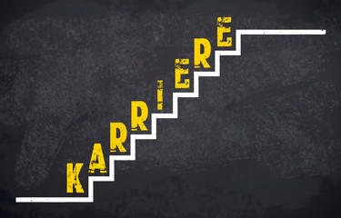 Kreidetafel mit Stufen und Karriere