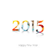 Happy new year 2015 greeting card design.