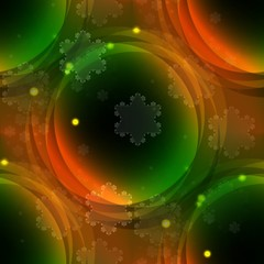 Green orange circle tileable abstract background