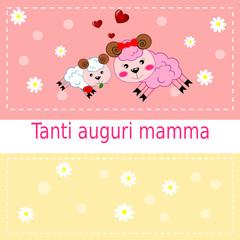 Cartolina d'auguri per la festa della mamma