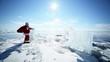 Santa Passes Glacial Horses