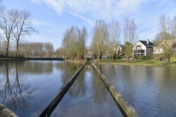 Le ruisseau Pede dans l'étang