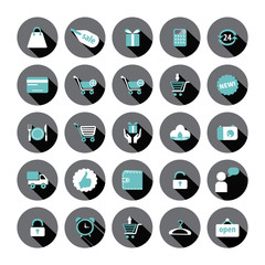 Shopping and Sale vector icons.