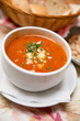 Fresh Tomato Soup with Bread and Cheese