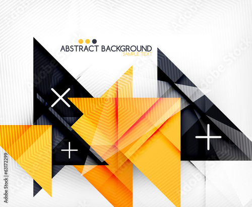 Triangle geometric shape abstract background