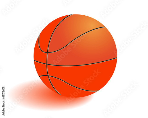 Ball for playing basketball