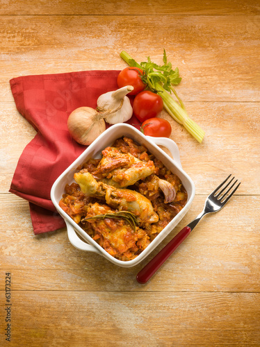 chicken Cacciatora italian traditional recipe