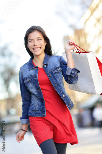 Shopper - woman shopping outside