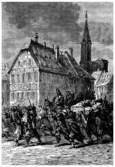 A Scene : War 1870 - Strasbourg - 19th century