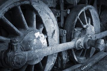 a rusty wheels