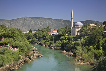 Neretva River  in Mostar. Bosnia and Herzegovina