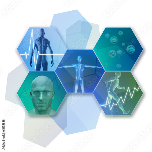 canvas print picture Medicine and Health Icons