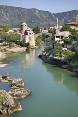 Old bridge in Mostar. Bosnia and Herzegovina