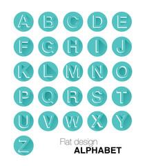 Flat design Alphabet