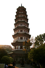 Flower Pagoda of temple of Six Banyan Trees