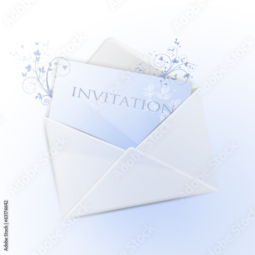 canvas print picture Envelope with invitation (english version)