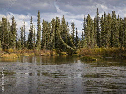 Shoreline view of Rancheria river-Yukon