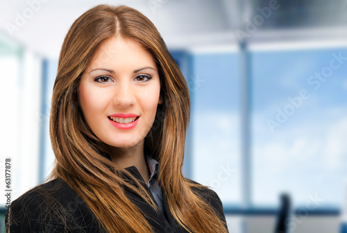 Businesswoman portrait in her office