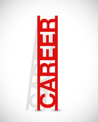 career text ladder concept illustration design