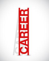 career text ladder concept illustration design