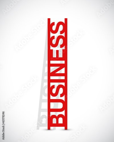 business text ladder concept illustration