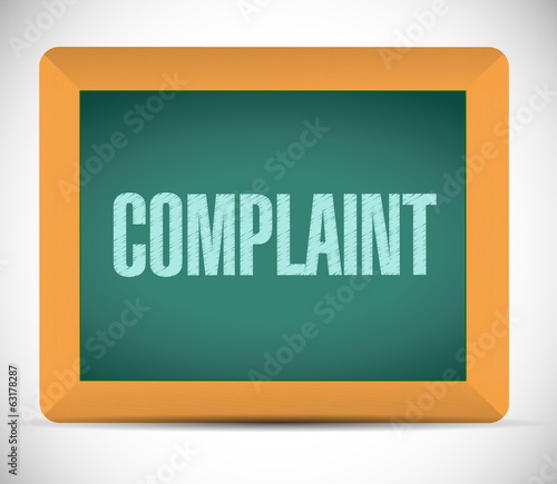 complaint message on board. illustration design
