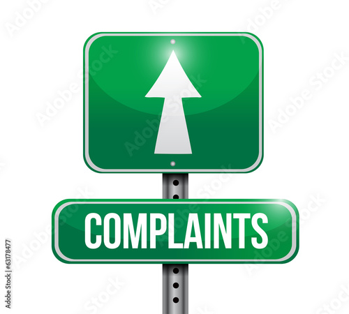 complaints signpost illustration design