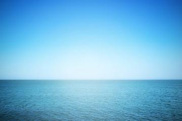 Sea and sunny sky