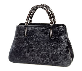 Stylish elegant black ladies handbag
