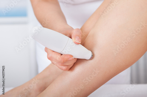 poster of Woman Getting Microdermabrasion Treatment