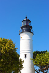 Full length image of the lighthouse in Florida's Key West