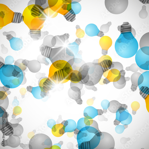 Light bulb abstract background