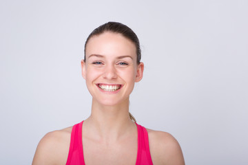 Beautiful young athletic woman smiling