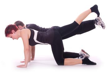 Rückengymnastik mit Personaltrainer