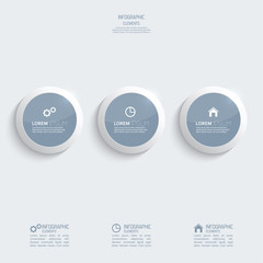 Glossy plastic buttons for infographic