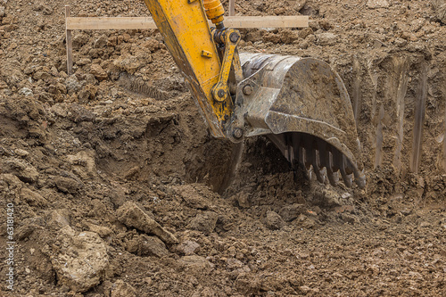 Hydraulic Excavator bucket working