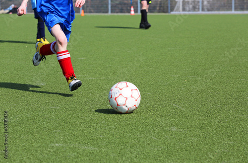 canvas print picture Jugendfussball