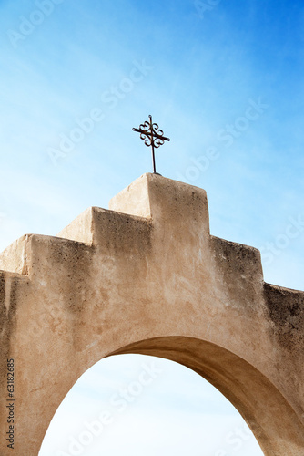 Cross at San Xavier del Bac Mission, Arizona