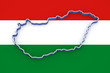 Three-dimensional map of Hungary