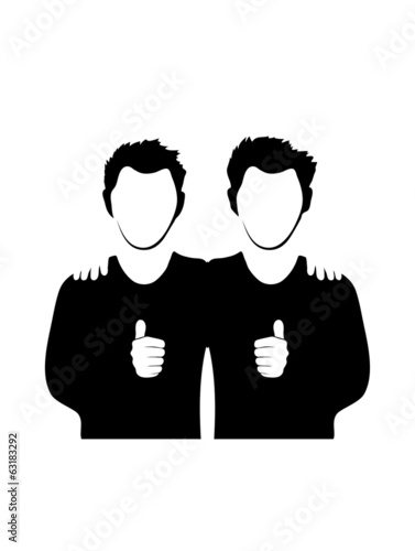 silhouettes of people holding each other on white background