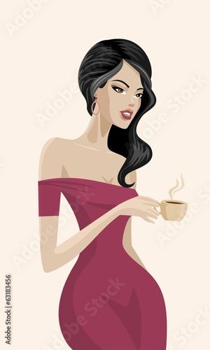 coffee drinking woman