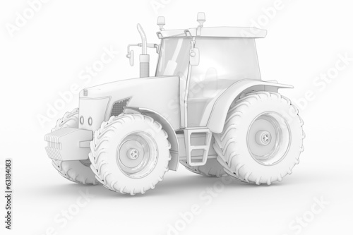 Tractor IV - white isolated