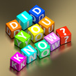 did you know words on colorful toy blocks