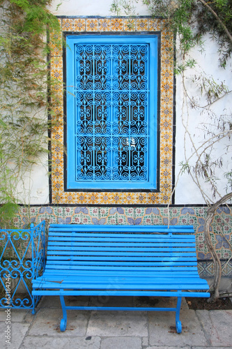 Sidi Bou Said bench and window