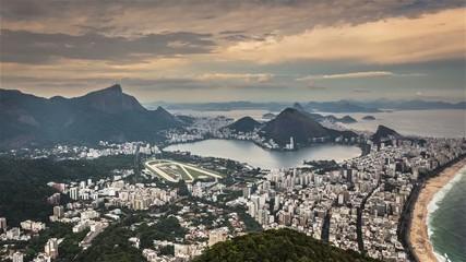 Rio de Janeiro aerial panorama Time Lapse , Brazil