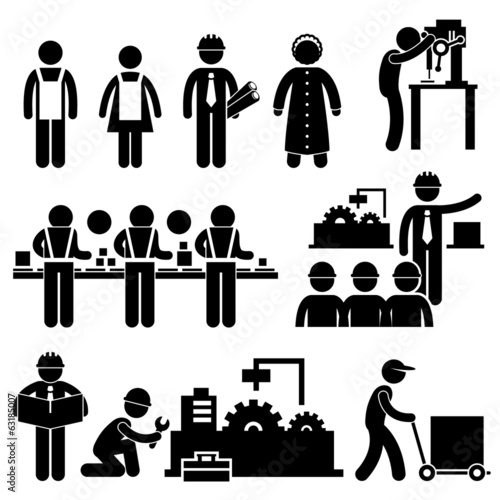 Factory Worker Engineer Manager Supervisor Working
