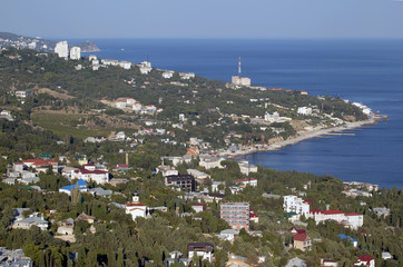 Black sea coastline in Crimea.