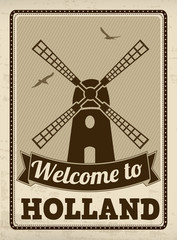 Welcome to Holland retro poster