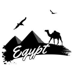 Egypt retro poster
